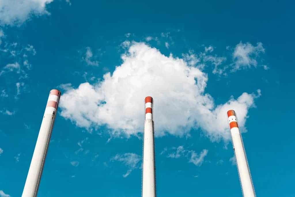 Trainen in vervuilde lucht